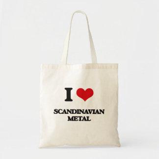 Jag älskar SKANDINAVISK METALL Tygkassar