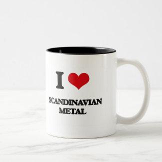 Jag älskar SKANDINAVISK METALL Två-Tonad Mugg