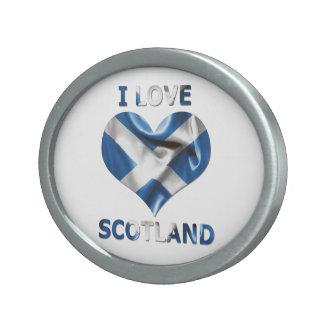 Jag älskar Skottland, hjärtaflagga sombältet
