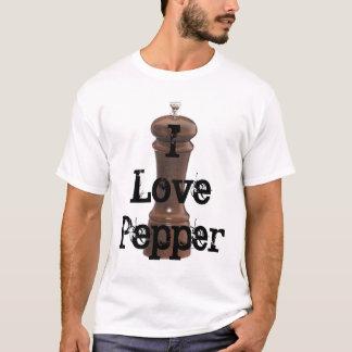 Jag älskar skräddarsy peppar - t shirts