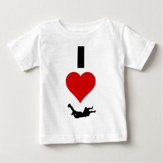 Jag älskar Skydiving (lodrät) T Shirts