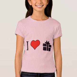 Jag älskar slågna in gåvor tee shirt