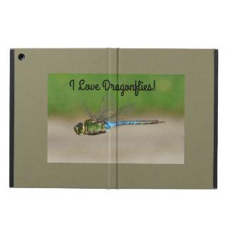 Jag älskar sländor, slösar & görar grön iPad air fodral
