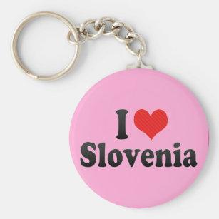 Jag älskar Slovenien Rund Nyckelring b305014c9a100