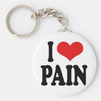 Jag älskar smärtar rund nyckelring