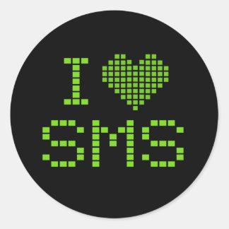 JAG ÄLSKAR SMS - klistermärke