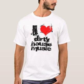 jag älskar smutsar ner husmusiktanken tee shirt