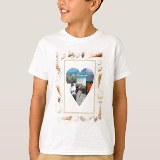 Jag älskar snäckahjärta för St. Maarten -. Celeste T-shirts