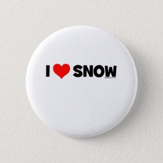 Jag älskar snö standard knapp rund 5.7 cm