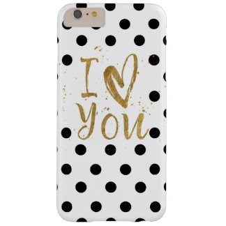 I Love You Gold Dots iPhone 6s Plus Case