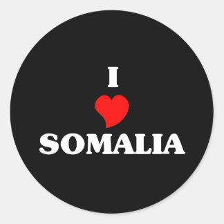 Jag älskar Somalia Runt Klistermärke