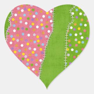 Jag älskar sömnaden - SRF Hjärtformat Klistermärke