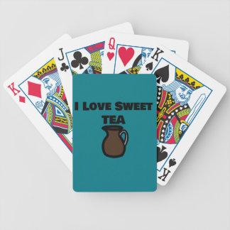 Jag älskar söta Teakort Spelkort