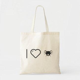 Jag älskar spindelnät budget tygkasse