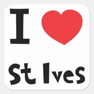 Jag älskar St Ives Fyrkantigt Klistermärke