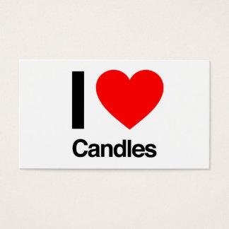 jag älskar stearinljus visitkort