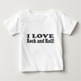 Jag älskar sten - och - rulle! tee shirts