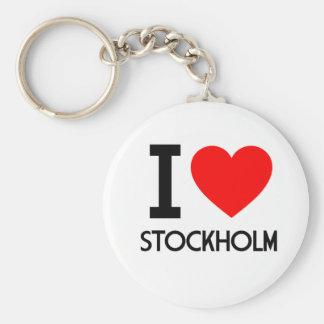 Jag älskar Stockholm Rund Nyckelring