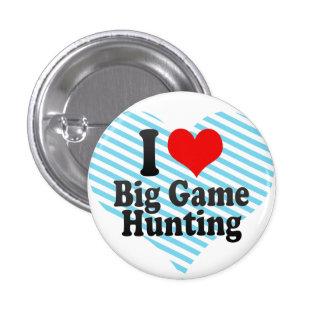Jag älskar stor modig jakt mini knapp rund 3.2 cm