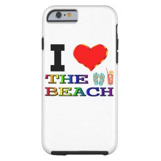 Jag älskar stranden tough iPhone 6 case