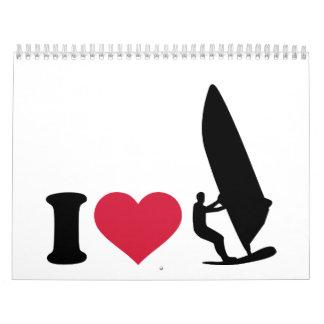 Jag älskar surfing kalender