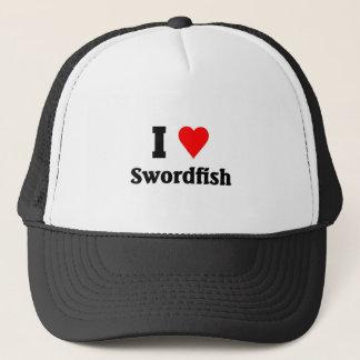Jag älskar Swordfish Truckerkeps