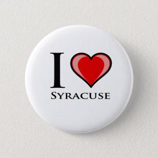 Jag älskar Syracuse Standard Knapp Rund 5.7 Cm