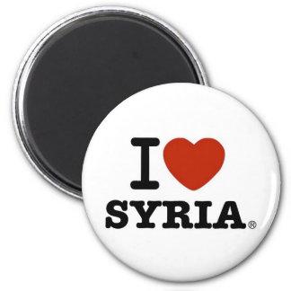 Jag älskar Syrien Magnet Rund 5.7 Cm