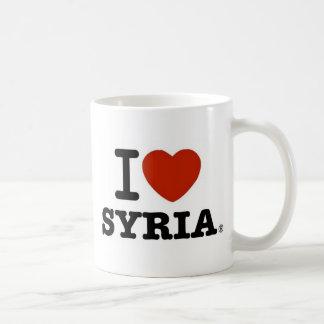 Jag älskar Syrien Vit Mugg
