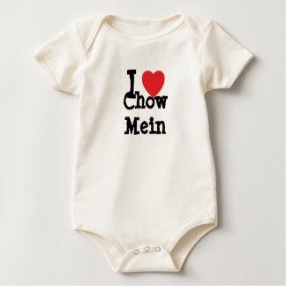 Jag älskar T-tröja för ChowMein hjärta Sparkdräkter