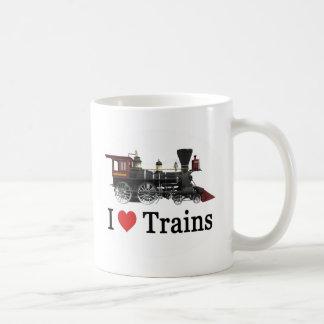 Jag älskar tåg kaffemugg