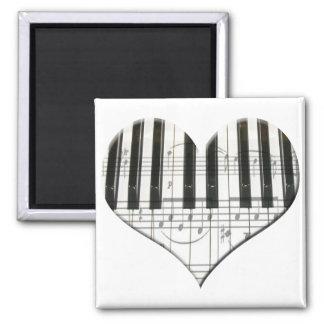 Jag älskar tangentbord för piano- eller organmusik magnet