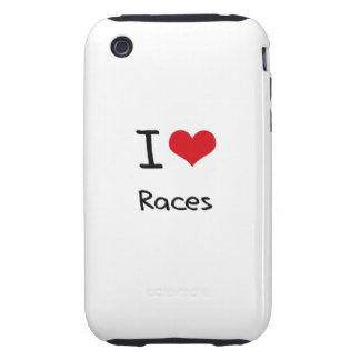 Jag älskar tävlingar iPhone 3 tough skydd