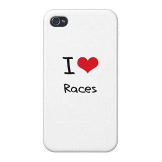 Jag älskar tävlingar iPhone 4 hud