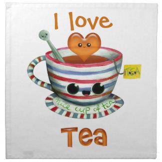 Jag älskar Tea Tygservett