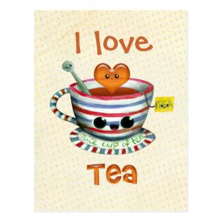 Jag älskar Tea Vykort
