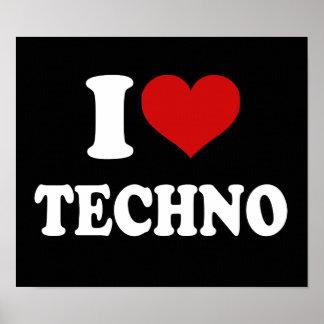 Jag älskar Techno Print