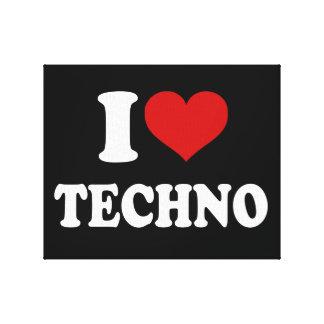 Jag älskar Techno Canvastryck