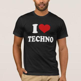 Jag älskar Techno Tee Shirt