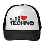 Jag älskar Techno Trucker Kepsar