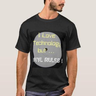Jag älskar teknologi- men vinylregler tshirts