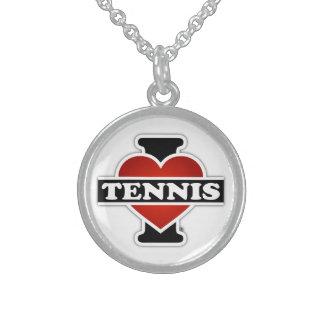 Jag älskar tennis sterling silver halsband