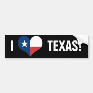 Jag älskar Texas Bildekal