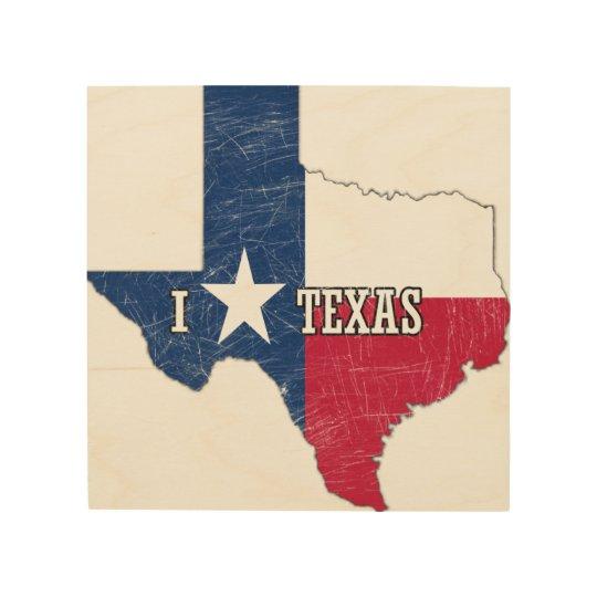 Jag älskar Texas Trätavla
