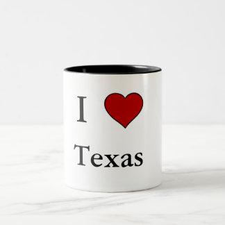 Jag älskar Texas - Två-Tona muggen Två-Tonad Mugg