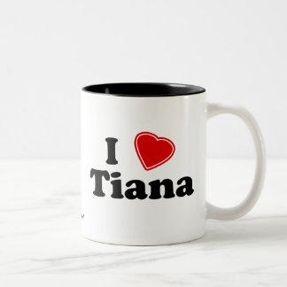 Jag älskar Tiana Två-Tonad Mugg