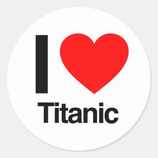 jag älskar titanic runt klistermärke