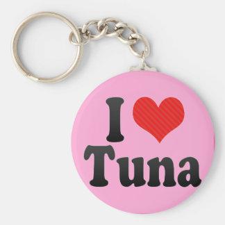 Jag älskar tonfisk rund nyckelring
