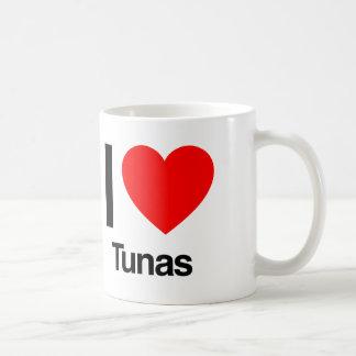 jag älskar tonfiskar vit mugg