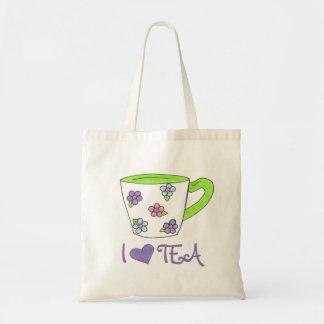 Jag älskar toto för tekopp för blom- tryck för Tea Tygkasse